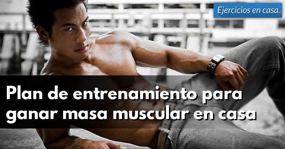 Plan de entrenamiento para ganar masa muscular en casa ejercicios en casa - Plan de entrenamiento en casa ...