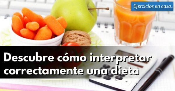 ¿Cómo podemos convertir los porcentajes de una dieta a calorías?