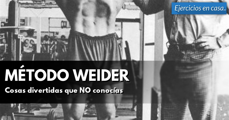 Cuestiones importantes que NO sabes sobre el método Weider