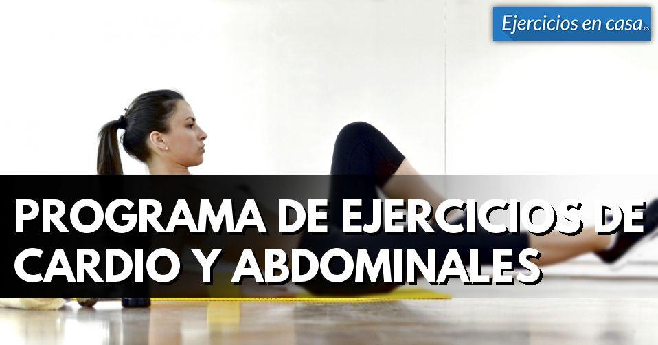 Programa de ejercicios de cardio y abdominales