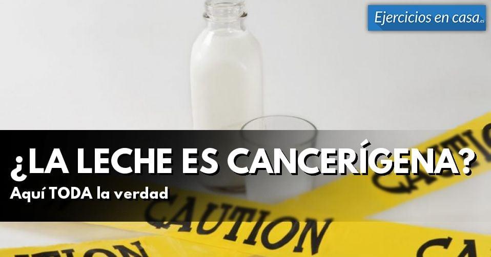 ¿La leche provoca cáncer?
