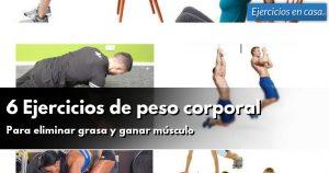 ejercicios caseros para eliminar grasa