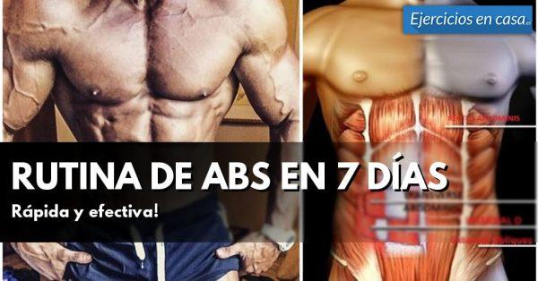 Rutina de abdominales en 7 días