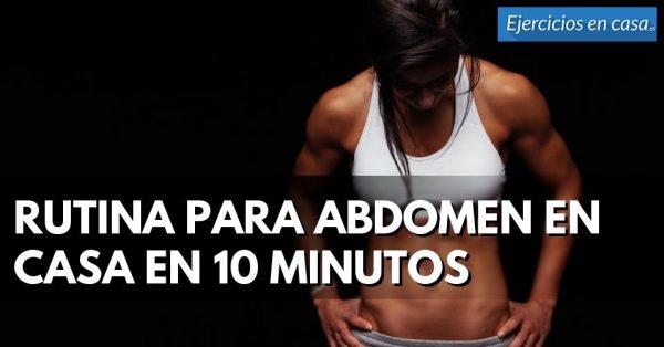rutina de ejercicios para adelgazar de 10 minutos