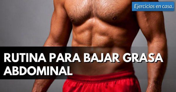 Rutina para bajar grasa abdominal