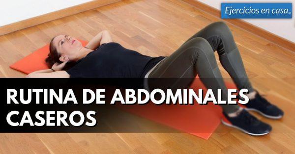 Rutina de ejercicios desde casa para los abdominales