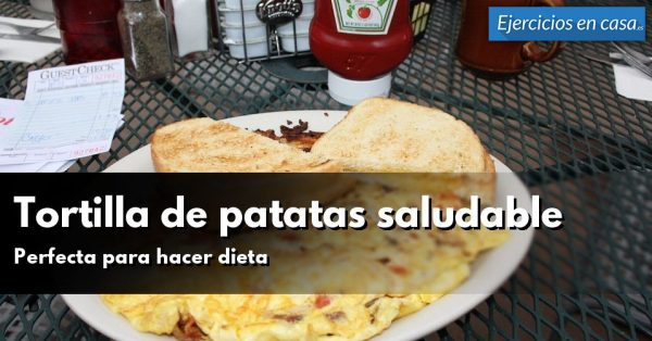 Tortilla de patatas saludable